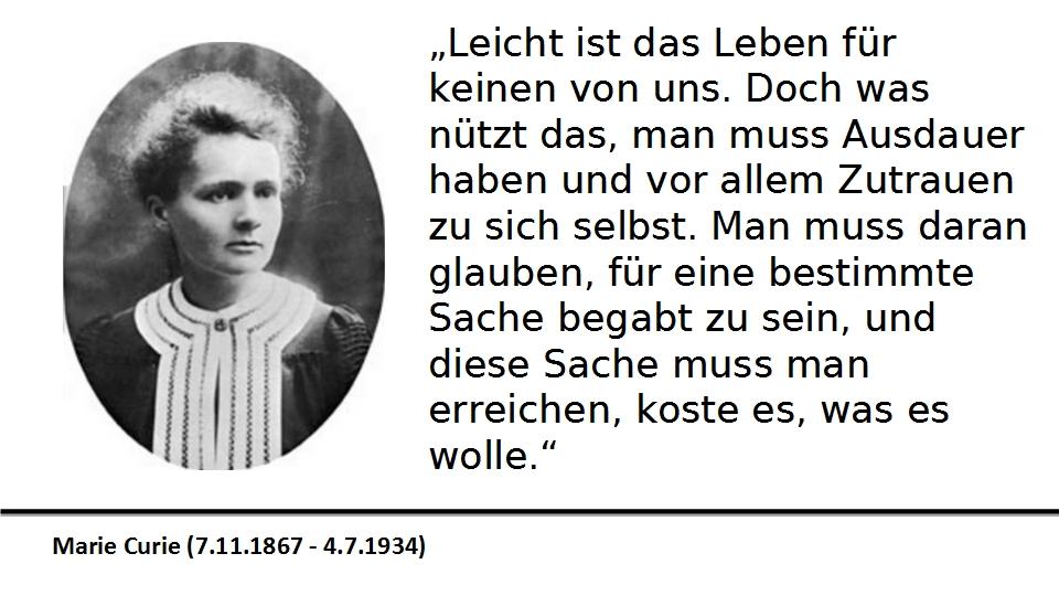 Zitate Marie Curie | zitate vom leben