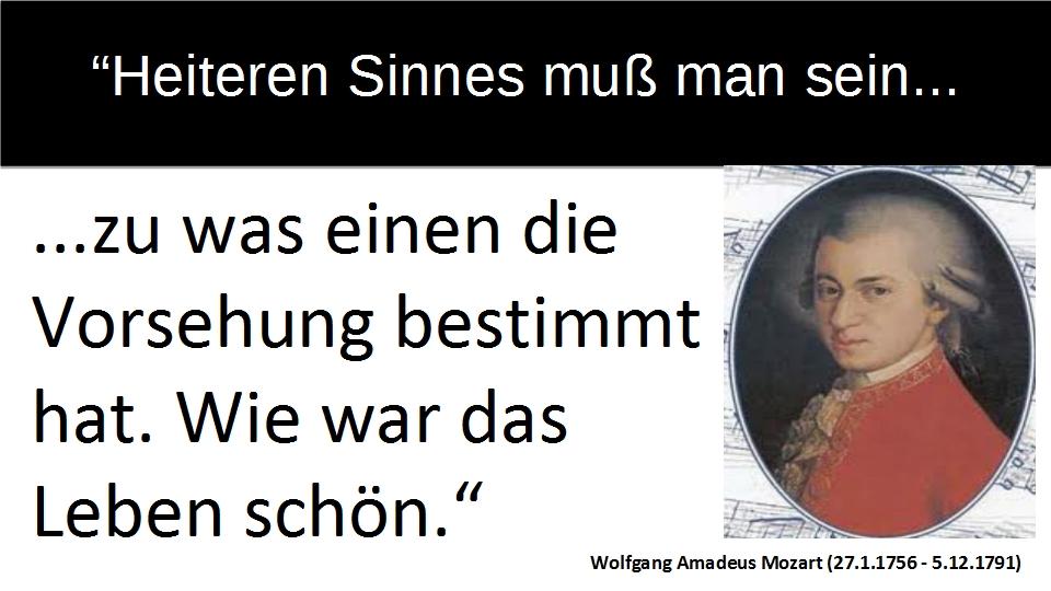 Wolfgang Amadeus Mozart Zitat